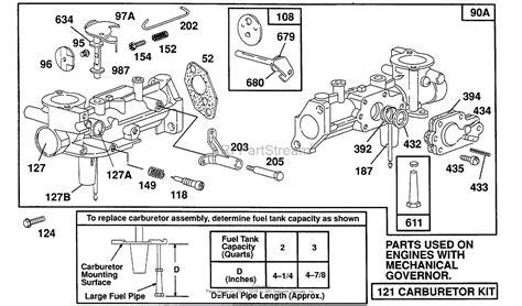 Husqvarna Kohler 149 Cc Carburetor Diagram by Briggs And Stratton 082232 0301 01 Parts Diagram For Pulsa
