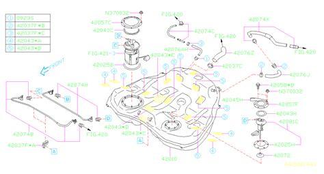 Subaru Outback Cushion Fuel Pump Tank Engine