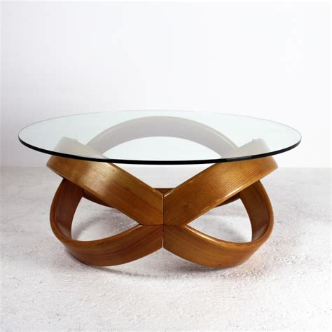 table basse en bois avec plateau en verre ezooq