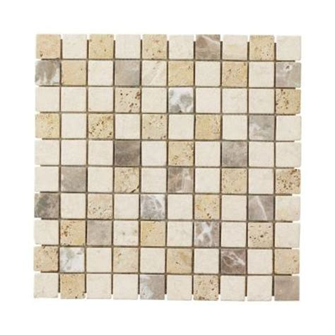Jeffrey Court Giallo S Medley 12 In X 12 In Travertine