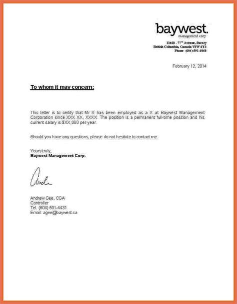 proof of relationship letter sle sle of proof of employment sle graduate resume