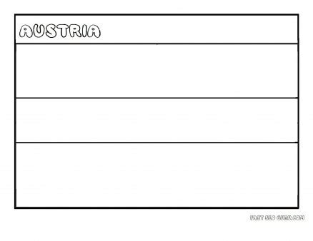 printable flag  austria coloring page  kids coloring pages printable