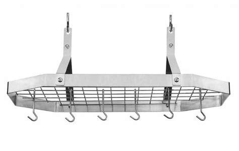 cuisinart octagonal stainless steel hanging pot rack cutlery