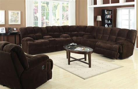 Reclining Sectional Sofas Microfiber by Ahearn Chocolate Microfiber 3 Reclining Sectional By
