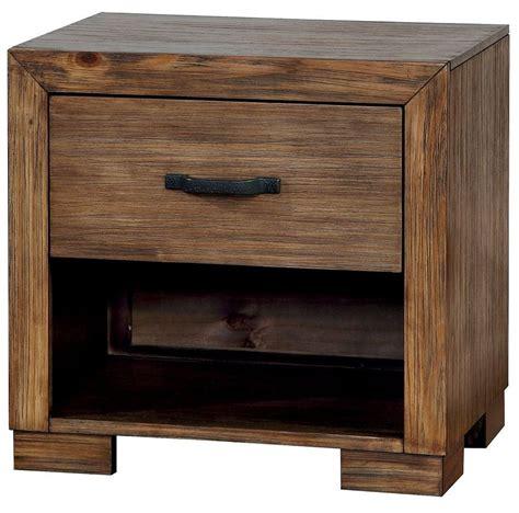 Pine Nightstand by Bairro Reclaimed Pine Wood Nightstand Cm7250n Furniture