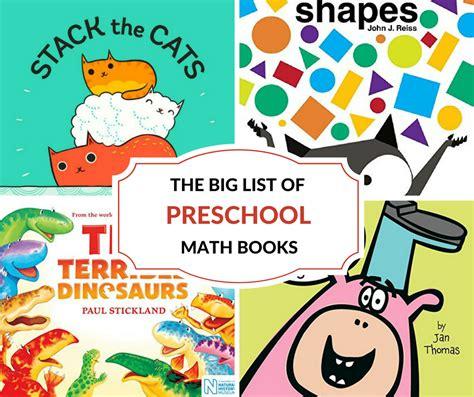 the big list of preschool math books 349 | BIG LIST OF PRESCHOOL MATH BOOKS FB