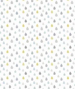 Papier Peint Bébé Garcon : papier peint enfant gouttes de pluies turquoise d co murale pinterest papier peint enfants ~ Nature-et-papiers.com Idées de Décoration