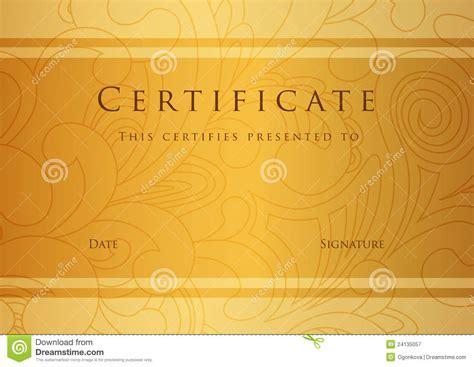 certificate diploma award template pattern stock vector