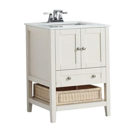 simpli home cape cod 24 in vanity in soft white with