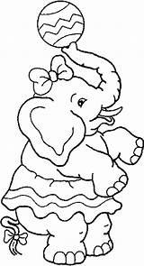 Coloring Pages Elephant Circus Printable Ballora Clown Sheknows Template Sheets Colour Elephants Printables Zirkus Elefant Malvorlagen Tiere Birthday Theme Kidprintables sketch template