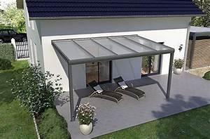 Aluminium Terrassenüberdachung Glas : terrassen berdachung 4m x 2m mit unterkonstruktion aus pulverbeschichtetem aluminium ~ Whattoseeinmadrid.com Haus und Dekorationen
