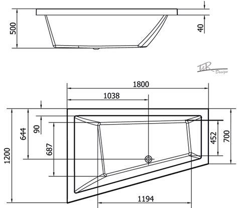 Raumspar Badewanne 120 by Raumspar Badewanne Polysan Triangl 180 X 120 X 50 Cm