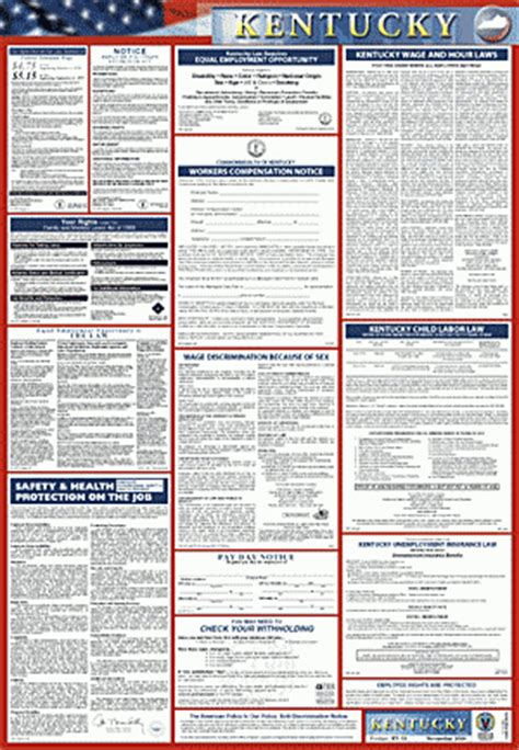 Ky Labor Cabinet Office Of Workplace Standards by Kentucky Labor Poster All In One 2 Poster Solutions