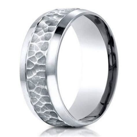hammered finish designer s 950 platinum wedding band 7 5mm