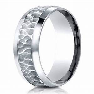 hammered finish designer men39s 950 platinum wedding band With hammered platinum wedding ring