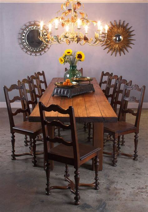french country pine long farm table early   sale