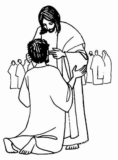 Jesus Coloring Miracles Healing Heals Sick Pages