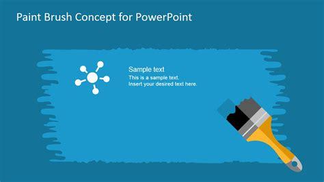 paint brush concept powerpoint template slidemodel