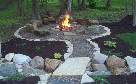 Easy Backyard Fire Pit Ideas Cheap With Photos Of Easy