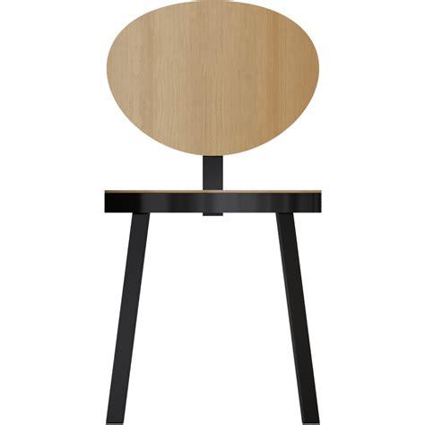 chaise metal noir oggetto bim chaise ds no6 acier noir et chene naturel