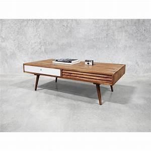 Table Basse Scandinave Vintage : table basse scandinave 2 tiroirs gris 39 vintage grey 39 meuble house marron achat vente table ~ Teatrodelosmanantiales.com Idées de Décoration
