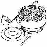 Soup Coloring Pages Bowl Food Drawing Tureen Vegetable Printable Yummy Sheets Getdrawings Pot Banana Kidsdrawing Print Colour Vegetables Getcolorings Age sketch template