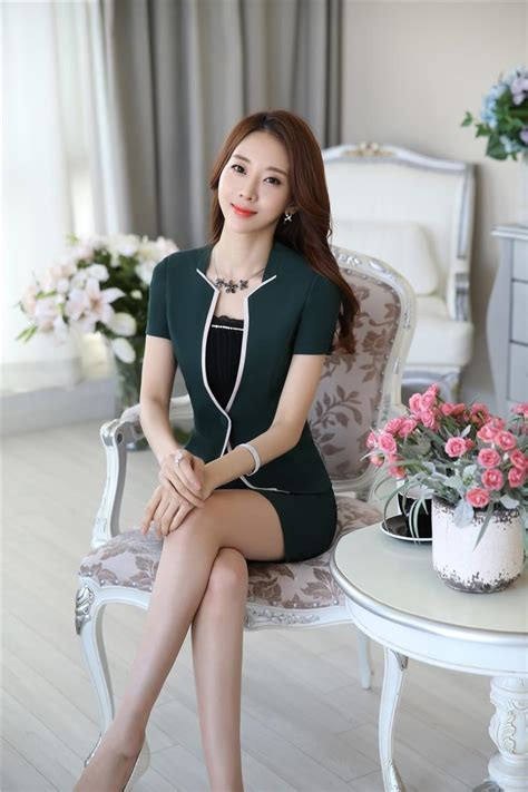 Find & download free graphic resources for beauty salon. Summer Formal Green Blazeer Women Business Suits With ...