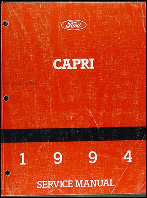 car repair manuals online free 1994 mercury capri parental controls 1994 mercury capri electrical vacuum troubleshooting manual original