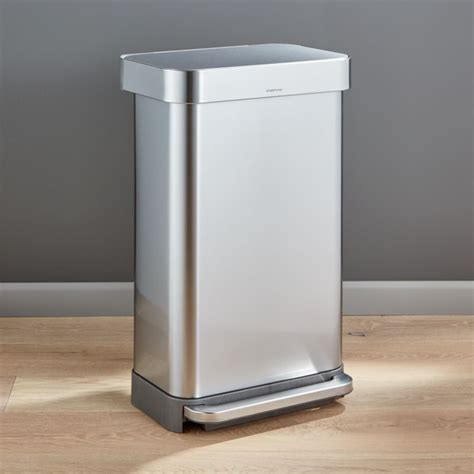 simplehuman  liter gallon stainless steel step