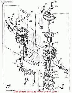 Yamaha Xv750 Virago 1993  P  Usa Carburetor