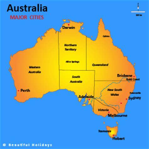 australia map  cities travelsfinderscom