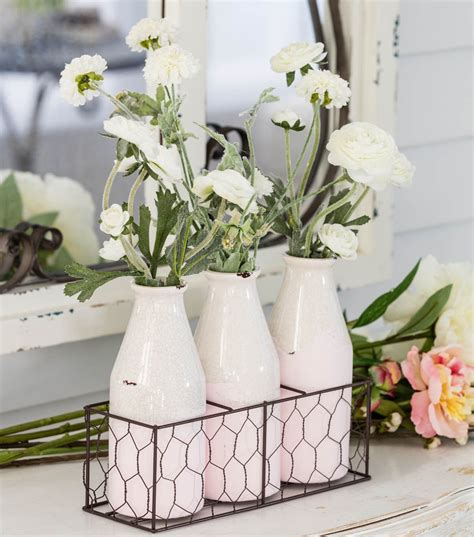 Bloom Room Set Ceramic Bottles Spring Inspiration