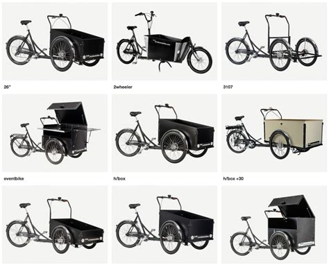 Different Types Of Christiania Bikes From Copenhagen