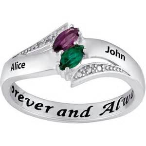 rings with names engraved 39 s personalized promise ring in sterling silver with