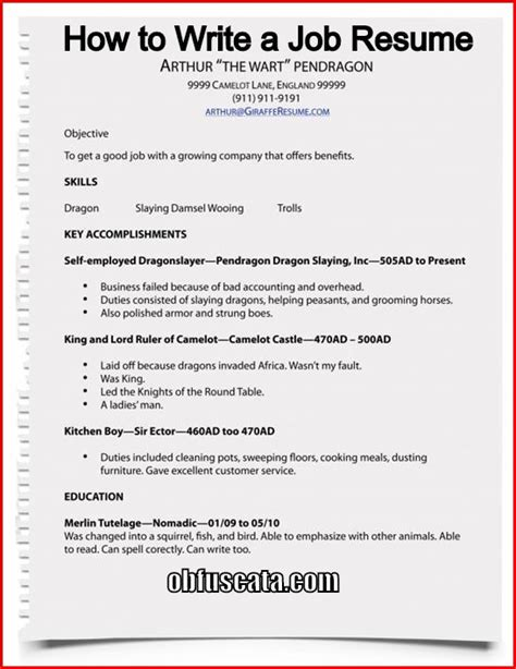 Write Resume Sle by How To Write A Resume