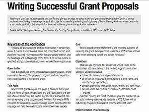 tips for writing successful grant proposals 3 pages With how to write a grant letter for a nonprofit organization