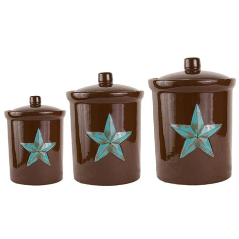 turquoise star canister set