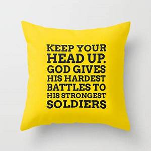 keep your head up throw pillow by from society6 cooledition With best pillow to keep your head cool