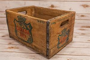 Vintage, Canada, Dry, Wooden, Crate, Box, Metal, Rustic, Carrier, Green, Red, Storage, Box