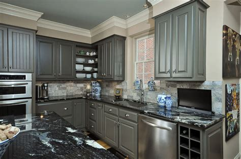 pictures of kitchen cabinets painted gray painting kitchen cabinets grey quotes