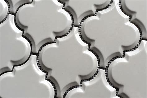 beveled arabesque tile arabesque vento gray beveled gloss on a mesh mosaic tile