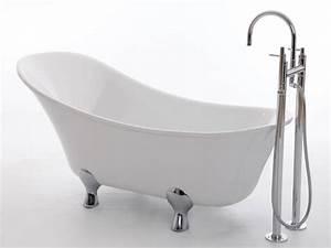 Frei Stehende Badewanne : freistehende badewanne kingston 175 aus acryl wei gl nzend 175x74x74 oval nostalgie ~ Udekor.club Haus und Dekorationen