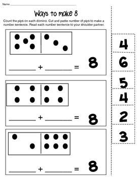 ways to make 6 8 and 10 math composing number worksheet tpt math lessons math teaching math