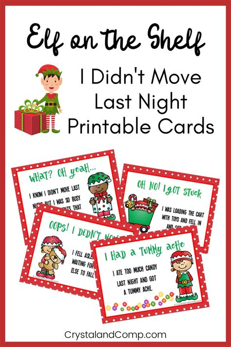elf didnt move printable notes crystalandcompcom