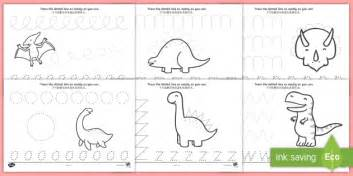 dinosaur pencil worksheet activity sheets