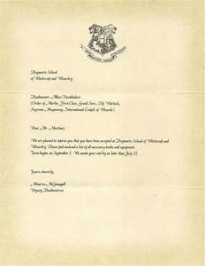 Hogwarts letter of acceptance harry potter party for Original hogwarts acceptance letter