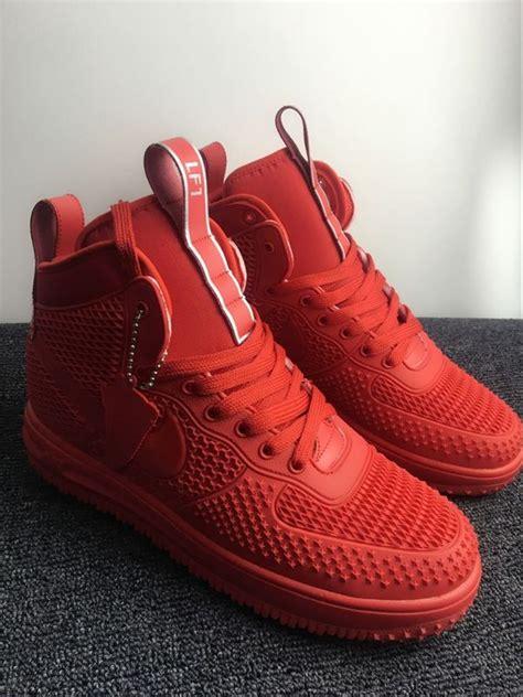 nike air force  high kpu  red men shoes seplook