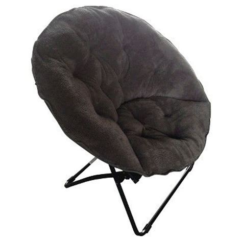 Dish Chair Sherpa Black by Room Essentials Fuzzy Dish Chair College Decor