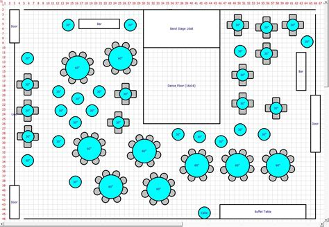 wedding reception layout feature list