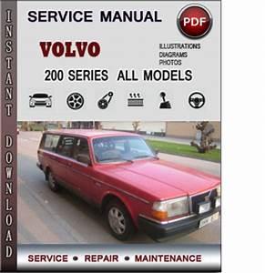 Volvo 200 Series  240  260  Service Repair Manual Download